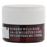 Korres Rose Sauvage Crème Peaux Mixtes A Tendance Grasses 40ml