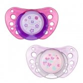 Chicco Physio Air Rubber Pacifier Rose 6-12m 2 Units