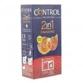 Control Duo Finissimo 2en1 Préservatifs + Gel 6 Unités